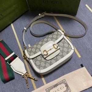 💜Gucci Horsebit 1955 GG Supreme canvas mini bag